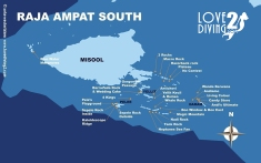 01 RAJA AMPAT SOUTH Dive Site Map
