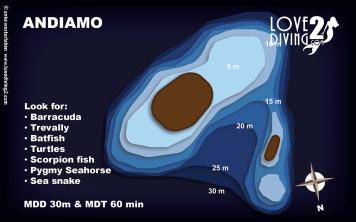 ANDIAMO raja ampat dive map