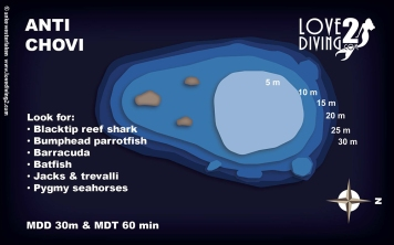 ANTI CHOVI raja ampat dive map